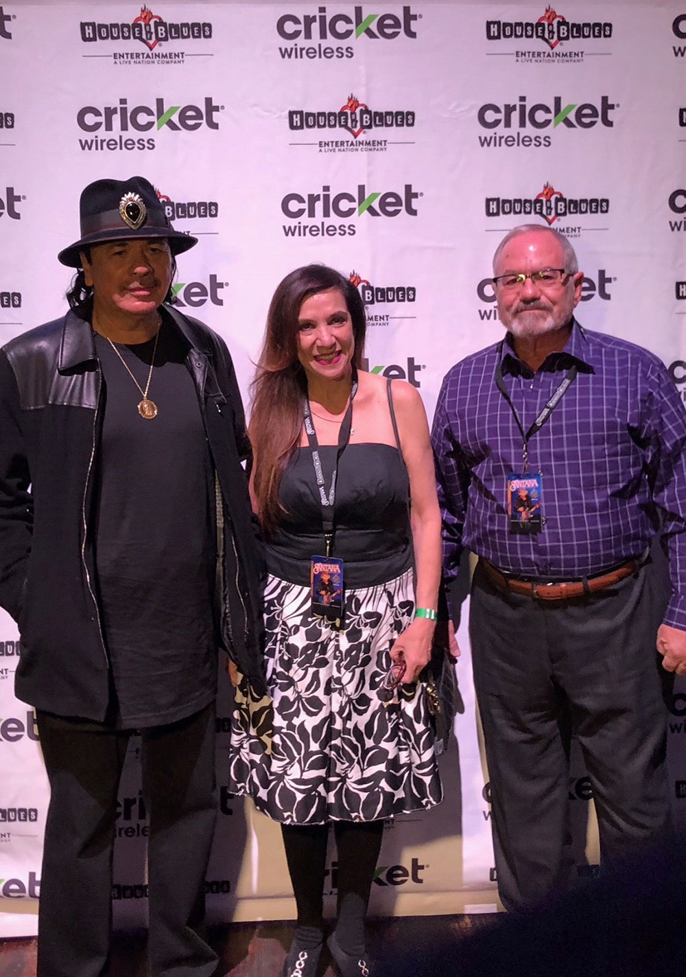 Sweepstakes winners' VIP meet and greet with Carlos Santana at House of Blues in Las Vegas, NV.