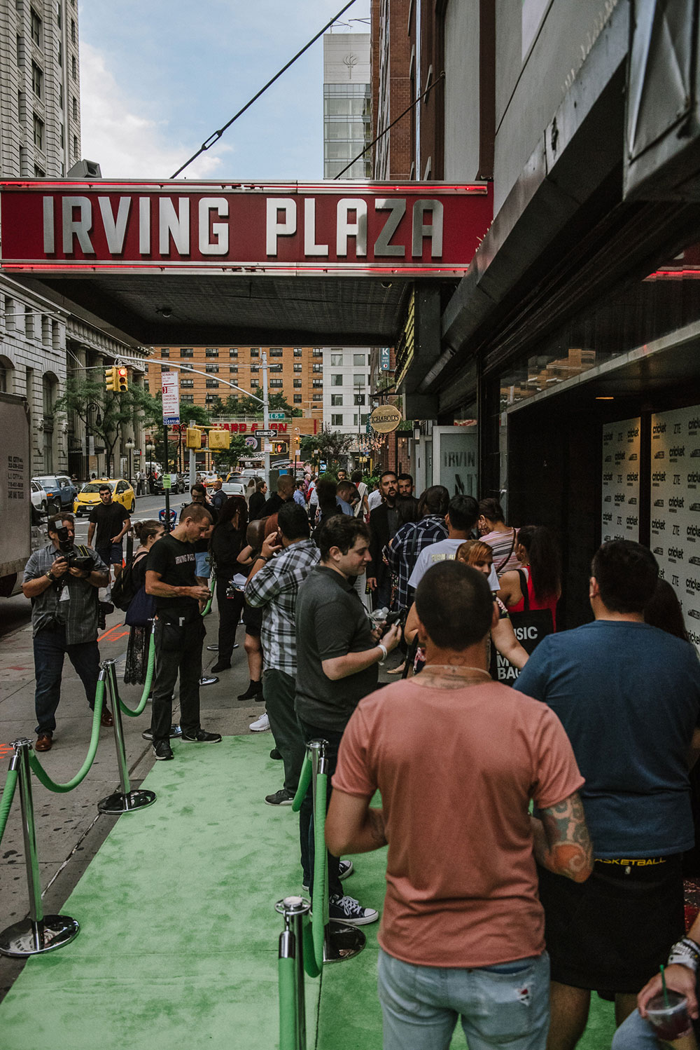 Customer event at Irving Plaza in New York, NY.