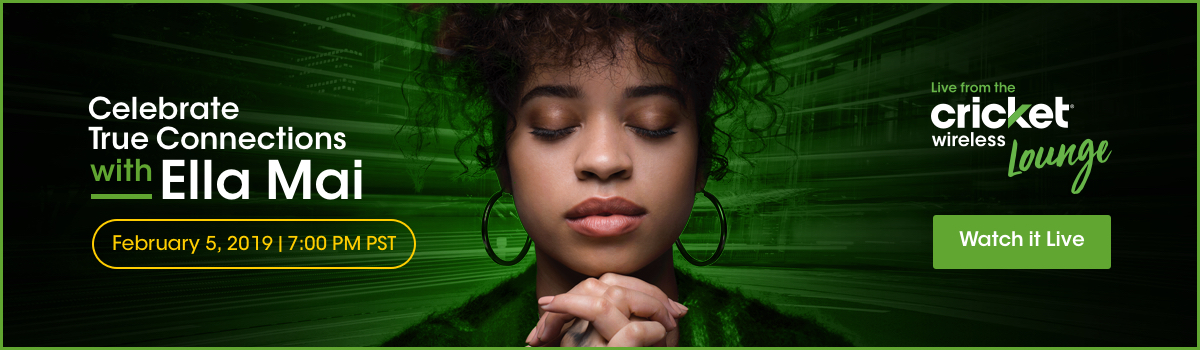 Watch Live from the Cricket Wireless Lounge with Ella Mai on February 5