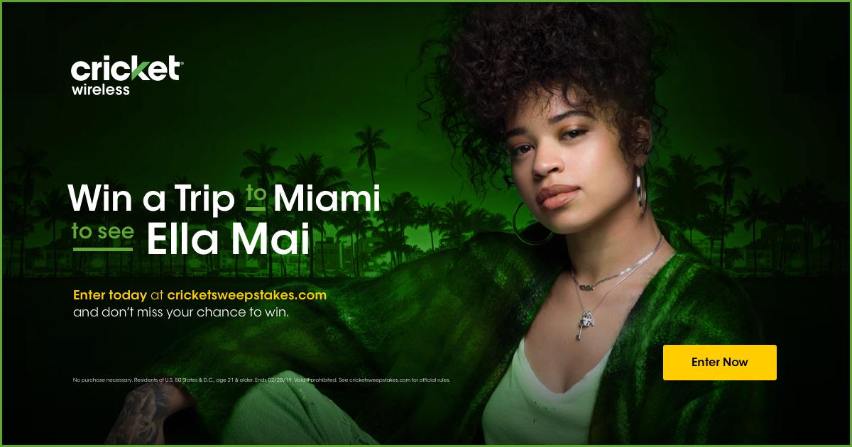 Win a trip to Miami to see Ella Mai in concert!