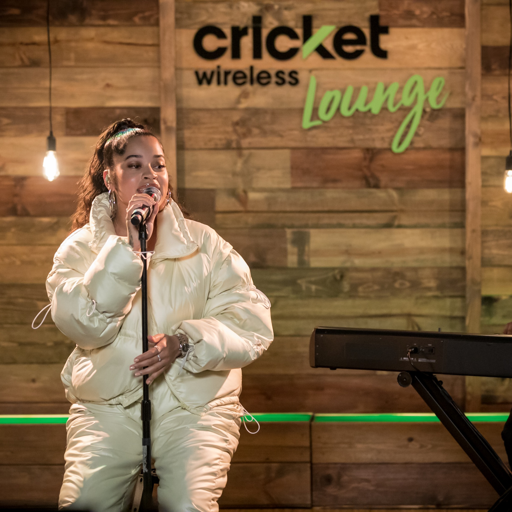 Live from the Cricket Wireless Lounge interview and live concert with Ella Mai