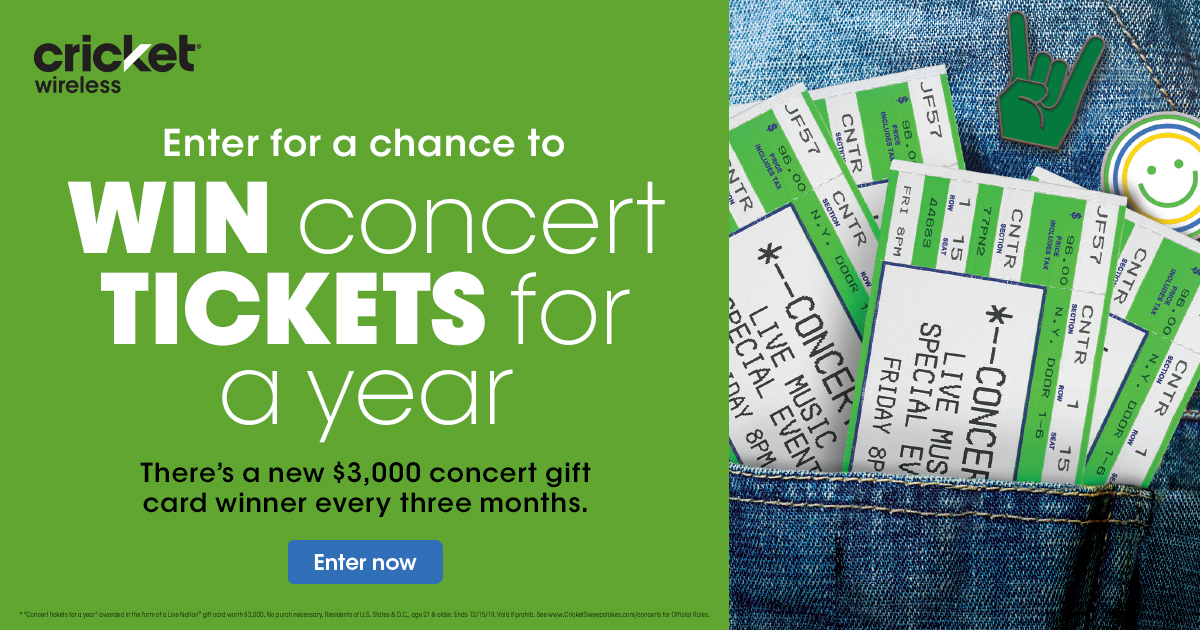 Win concert tickets for a year!