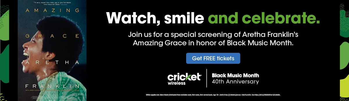 Join us for a special screening of Aretha Franklin's Amazing Grace in honor of Black Music Month