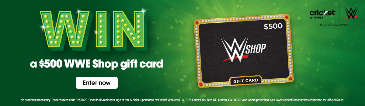 Enter to win a $500 WWE Shop gift card